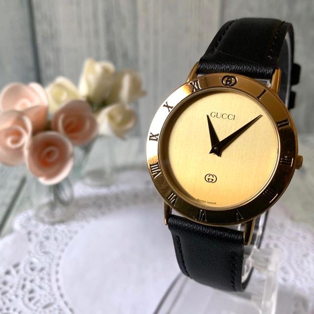 ヴィトンベルト偽物sk2,Gucci-【動作OK】GUCCIグッチ腕時計3000Mゴールドメンズの通販bysoga'sshop