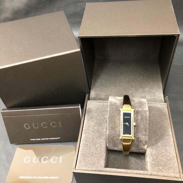 ブランド財布ネット偽物ヴィトン,Gucci-正規品美品GUCCIグッチ1500Lブラック文字盤レディース腕時計の通販byブルーローズのお店