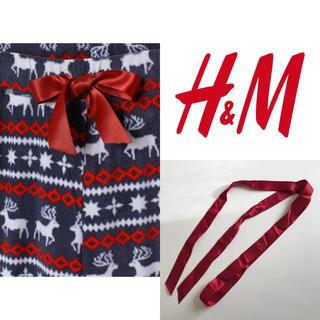 エイチアンドエム(H&M)の【新未★送込】H&M/エイチアンドエム・フリースパジャマパンツのリボンのみ(ルームウェア)