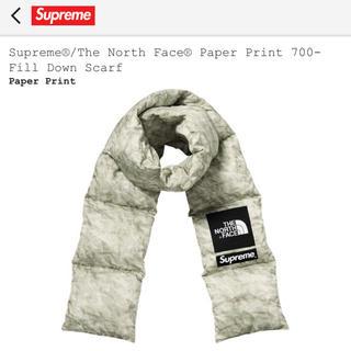 シュプリーム(Supreme)のSupreme / The North Face Paper Print(マフラー)