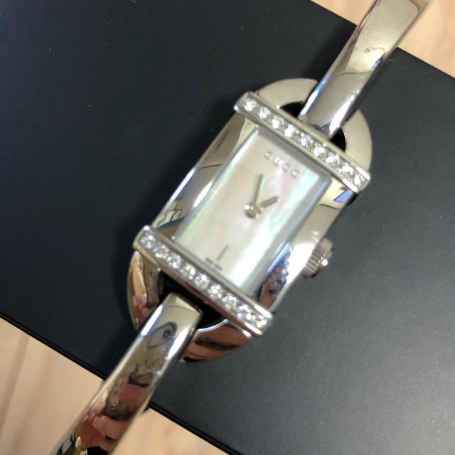 エルメスネックレス チェーン 、 Gucci - 送料込み 美品 GUCCI レデイース時計 6800Lダイヤベゼル・クオーツ の通販 by mimi's shop