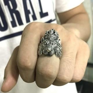 ライオン 獅子 レオ 指輪 リング プレゼント ゆびわ メンズ ごつい 大きめ(リング(指輪))