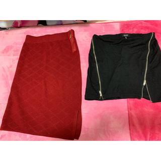 ベルシュカ(Bershka)のBershkaスカート2点セット(ひざ丈スカート)