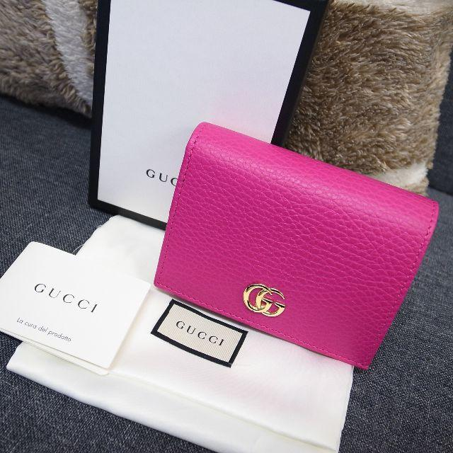 Gucci - 新品未使用☆グッチ プチマーモント スモールウォレット ピンク レザー 財布の通販 by faen
