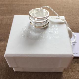 マルタンマルジェラ(Maison Martin Margiela)の18AW新品M メゾンマルジェラ 3連リング シルバー 指輪 メンズ(リング(指輪))