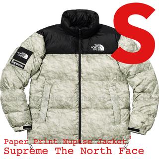 シュプリーム(Supreme)の【S】Supreme TNF Paper Print Nuptse Jacket(ダウンジャケット)