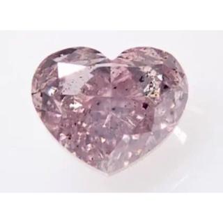 天然ピンクダイヤモンド 約0.3ct FBPP PTリング ハート(リング(指輪))