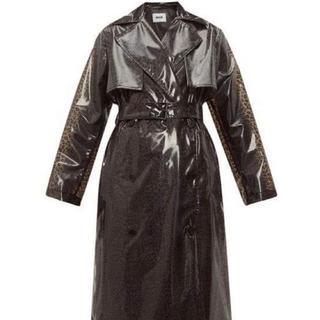 ジョンローレンスサリバン(JOHN LAWRENCE SULLIVAN)の【定価12万】msgm pvc tench leopard coat(トレンチコート)