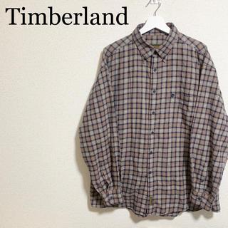 ティンバーランド(Timberland)のティンバーランド チェックシャツ メンズXL ベージュ ワンポイントロゴ(シャツ)