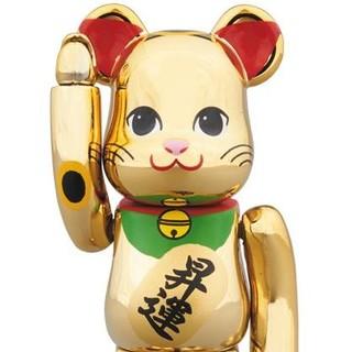 【送料込】金メッキ 7 昇運 七 100% 招き猫 ベアブリック ソラマチ 新品(キャラクターグッズ)