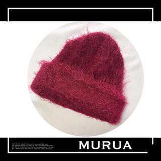 ムルーア(MURUA)のMURUA シャギーニット 帽子 キャップ♡エモダ エゴイスト GYDA(ニット帽/ビーニー)
