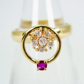 K18 ルビー ダイヤモンド ピンキー リング 3号[g132-4] (リング(指輪))