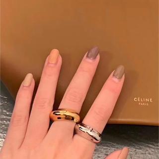 トゥデイフル(TODAYFUL)のCELINE  セリーヌ ボリュームリング ムーンリング 2カラー 18k (リング(指輪))