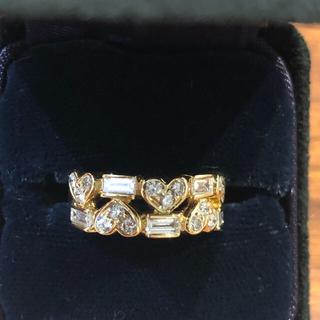ティファニー(Tiffany & Co.)のティファニー  ダイヤ K18  ハート リング(リング(指輪))