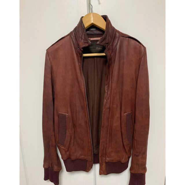 Edition(エディション)のエディション レザーブルゾン サイズ46 Mサイズ メンズのジャケット/アウター(レザージャケット)の商品写真
