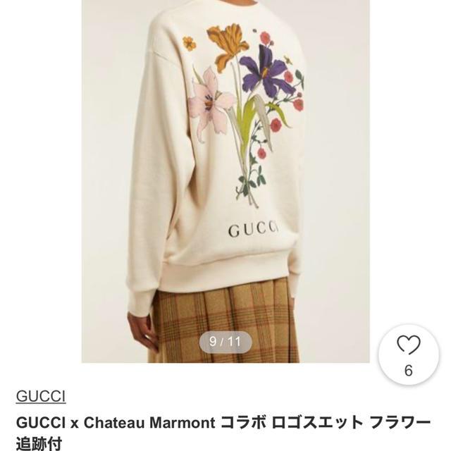 ego-c アクセサリー 、 Gucci - 19SS シャトーマーモントスウェットシャツ 花柄 ハリウッド トレーナーの通販 by Karen