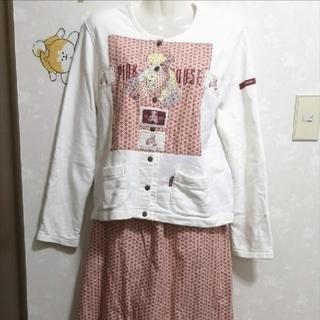 ピンクハウス(PINK HOUSE)のピンクハウス セットアップ 上下セット クマ カーディガン ロングスカート(セット/コーデ)