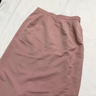 サンタモニカ(Santa Monica)のvintage くすみカラー レトロピンクスカート(ひざ丈スカート)