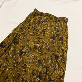 サンタモニカ(Santa Monica)のvintage 花柄 クラシカルレトロ フレアスカート(ひざ丈スカート)