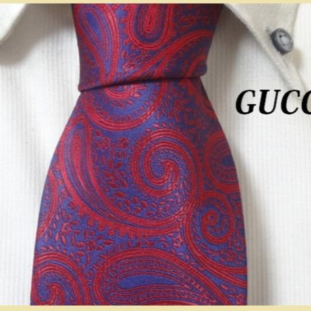 Gucci - 極美品★グッチ★GUCCI【気品溢れるペイズリー柄】高級ネクタイ★の通販 by 多数販売中★smile for you