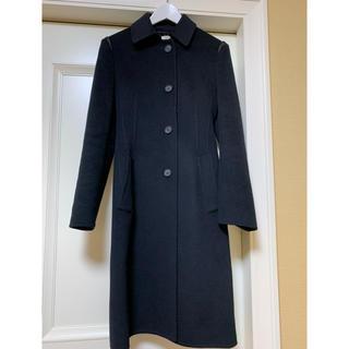プラダ(PRADA)のPRADA 黒ロングコート 美品 サイズ40(ロングコート)