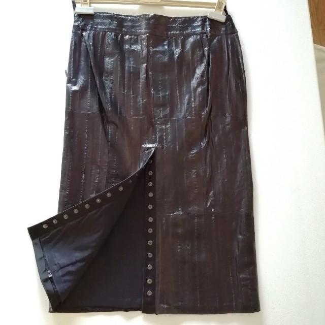 Gucci - GUCCI リアルレザー スカート 38の通販 by てみな's shop