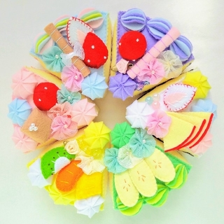 ゆめかわ♪フェルトおままごと☆6種類のケーキセットNo.93(その他)