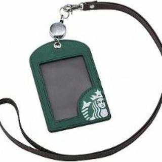 スターバックスコーヒー(Starbucks Coffee)の2WAYカードケース カードホルダー ストラップ パスケース 台湾スターバックス(名刺入れ/定期入れ)