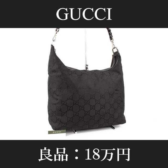 Gucci - 【限界価格・送料無料・良品】グッチ・ショルダーバッグ(バンブー・B093)の通販 by Serenity High Brand Shop