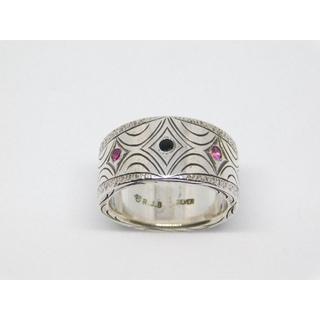 フラットヘッド(THE FLAT HEAD)の美品 RJB 手彫り リング THE FLAT HEAD ハンドメイド 指輪 1(リング(指輪))