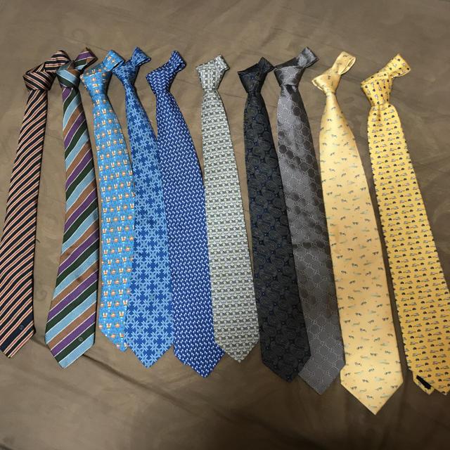 Gucci - ブランドネクタイ 10本セット GUCCI、HERMES 、dunhillなどの通販 by こうちゃん's shop