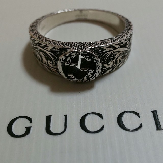 Gucci - GUCCI 燻 インターロッキング Gリング リング 23号表記 22号 指輪の通販 by みさ's shop