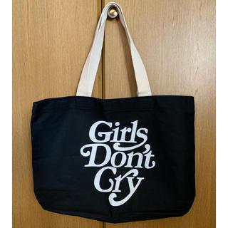 ジーディーシー(GDC)のGirls Don't Cry トートバッグ ブラック 黒(トートバッグ)