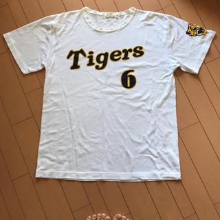 ハンシンタイガース(阪神タイガース)の阪神タイガース 金本 Tシャツ Lサイズ(スポーツ選手)