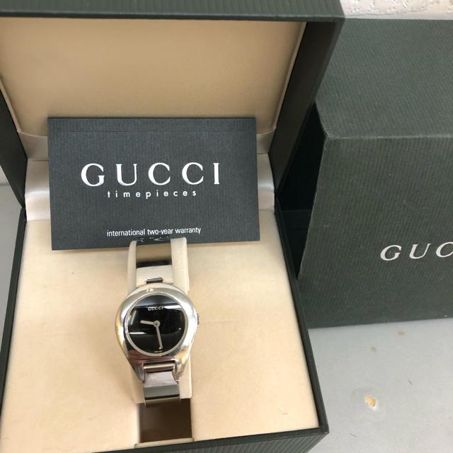 ベルト 黒 - Gucci - 本物 GUCCI グッチ 時計 ブレスウォッチの通販 by ゆー's shop