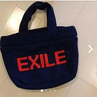 エグザイル(EXILE)のEXILE ネイビーニットハンドバッグ(トートバッグ)