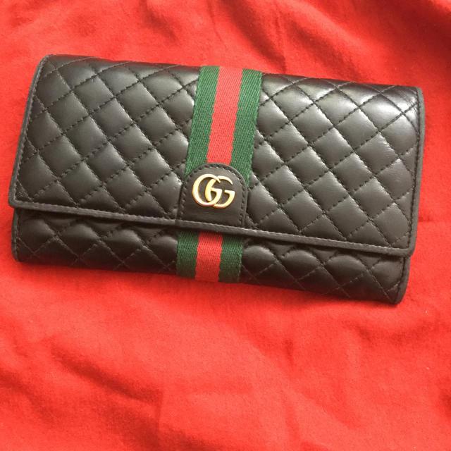 Gucci - GUCCI オフィディア シェリーライン キルティング  レザー 長財布 黒の通販 by みゃんママ's shop