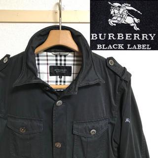 バーバリーブラックレーベル(BURBERRY BLACK LABEL)の希少!バーバリーブラックレーベル  ノバチェック ホースマークジャケット(ミリタリージャケット)