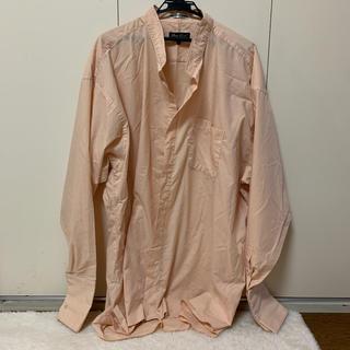 古着 シャツ オーバーサイズシャツ ピンクオレンジ(シャツ/ブラウス(長袖/七分))
