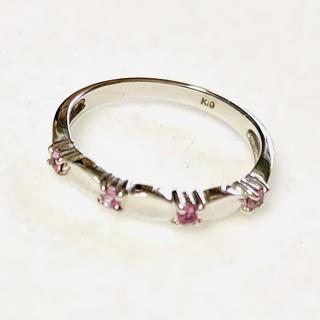 ジュエリーツツミ(JEWELRY TSUTSUMI)のK10  WG  ピンクサファイアリング(リング(指輪))