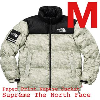シュプリーム(Supreme)の【M】Supreme TNF Paper Print Nuptse Jacket(ダウンジャケット)