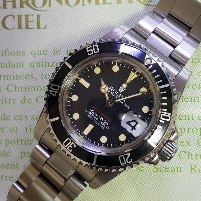 アンティーク 腕時計 レディース カルティエ | ROLEX - 1680赤サブマリーナ 3135クローンムーブ搭載の通販 by yama1982's shop