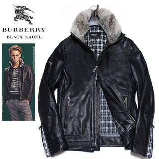 バーバリーブラックレーベル(BURBERRY BLACK LABEL)のブラックレーベルレザージャケット(レザージャケット)
