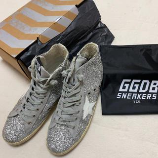 ゴールデングース(GOLDEN GOOSE)のゴールデングース39 ラメシルバー ハイカット(スニーカー)