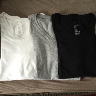 ムジルシリョウヒン(MUJI (無印良品))の無印良品/Vネック長袖シャツ/XL(Tシャツ(長袖/七分))