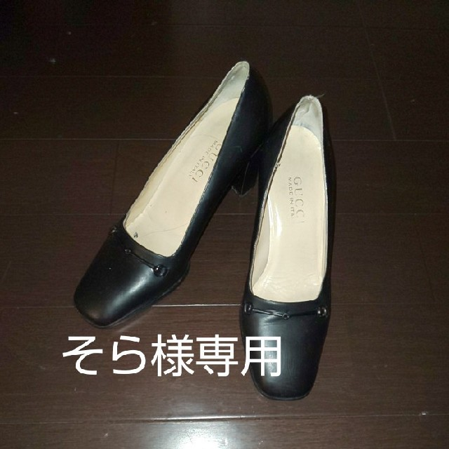 chanel バッグ 偽物楽天 、 Gucci - GUCCI ☆ 黒 ヒール 35C made in ITALY ☆ 訳あり格安の通販 by くまくままま's shop