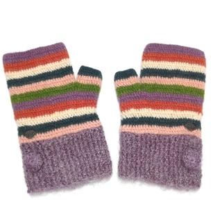 シビラ(Sybilla)のシビラ ニット手袋 マルチボーダー(手袋)