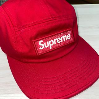 シュプリーム(Supreme)のSupreme reflective box logo camp cap(キャップ)