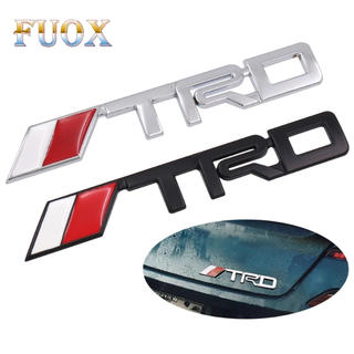 トヨタ - 新品TRDロゴ3D立体メタルエンブレムトヨタTOYOTA新品(シルバー)