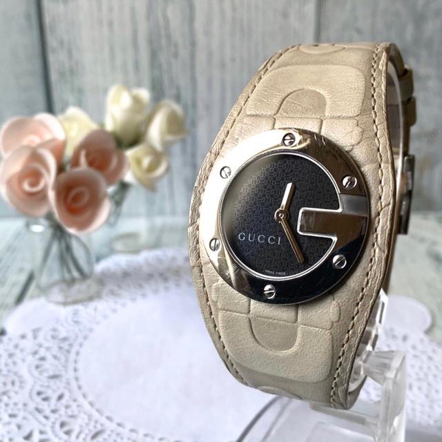 gucci リング / Gucci - 【電池交換済み】GUCCI グッチ 104 腕時計 Gバンデューの通販 by soga's shop